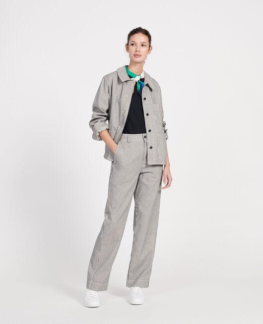 Cotton work jacket DENIM STRIPES