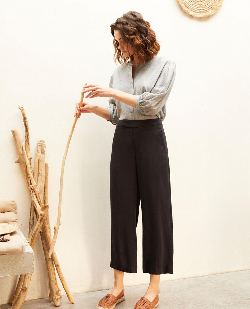 High-waist trousers Noir Iokyo