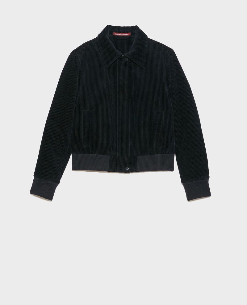 Corduroy zipped jacket Night sky Piettry