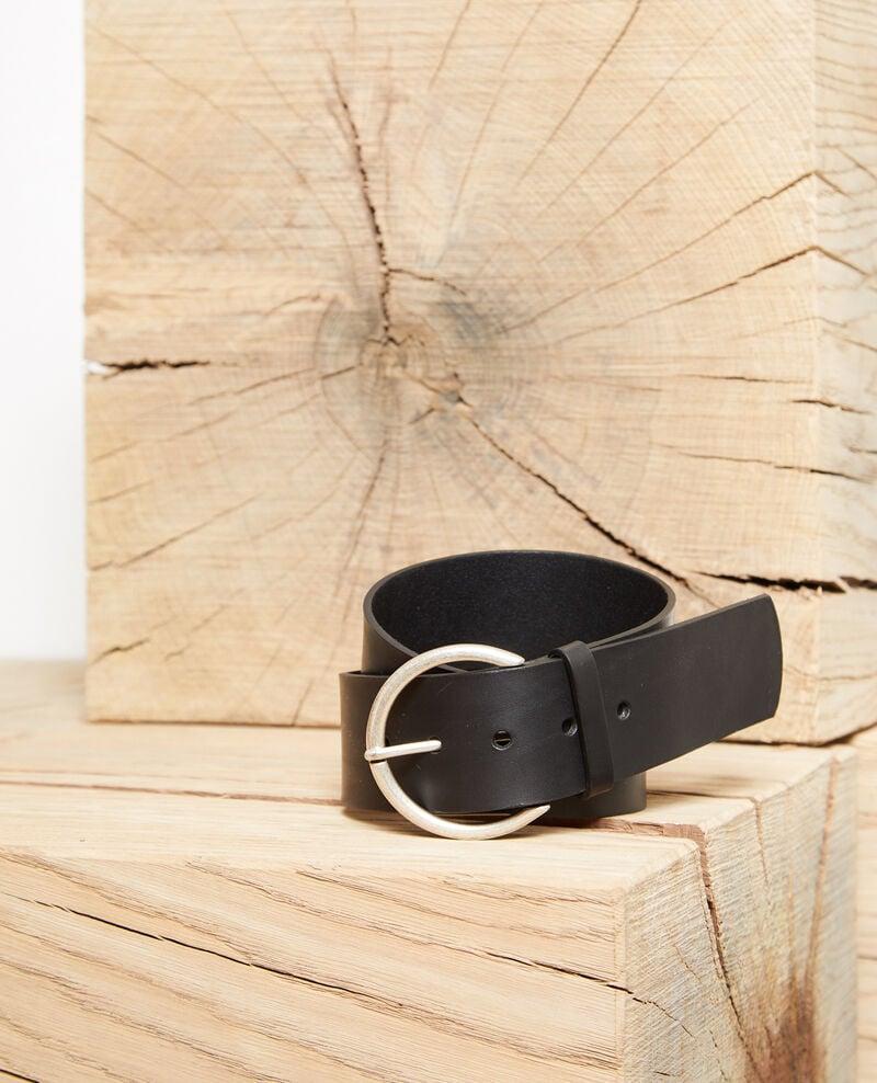 Leather belt Black Garge