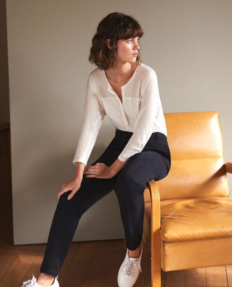 Fabric blend t-shirt White Genious