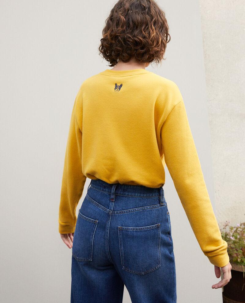 Embroidered Léon sweatshirt Golden spice/peacoat Gleon