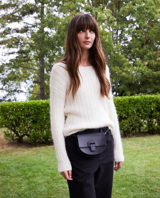 Novelty knit jumper BUTTERCREAM