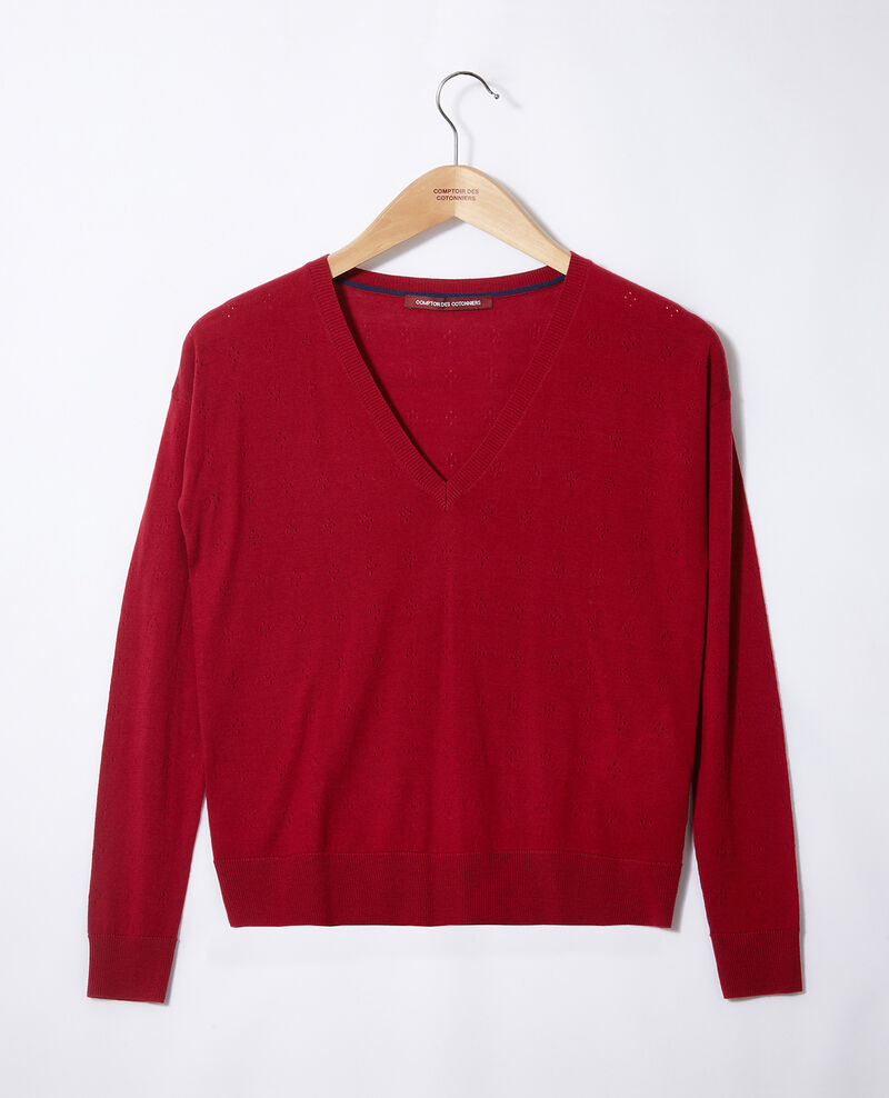 Merino wool jumper Rio red Garago