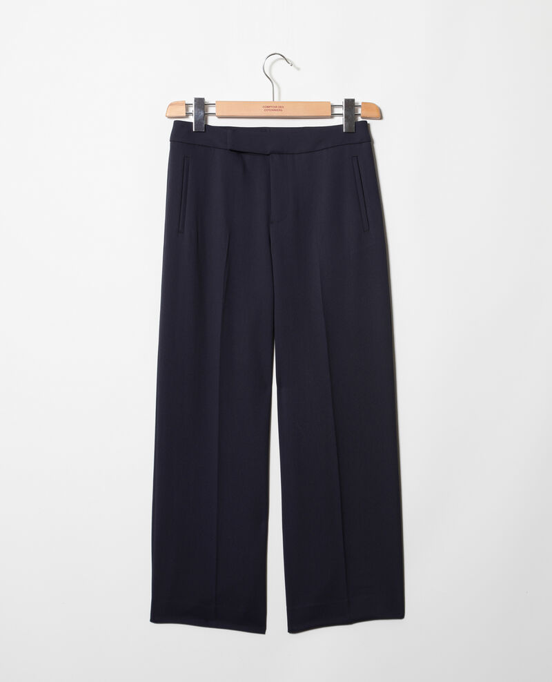 Wide carrot trousers Navy Ibia