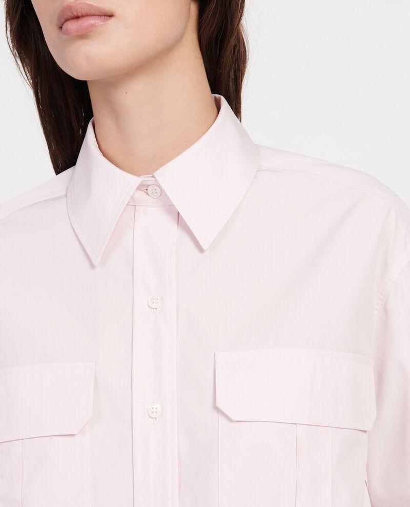 Cotton poplin shirt Primrose pink Lauryl