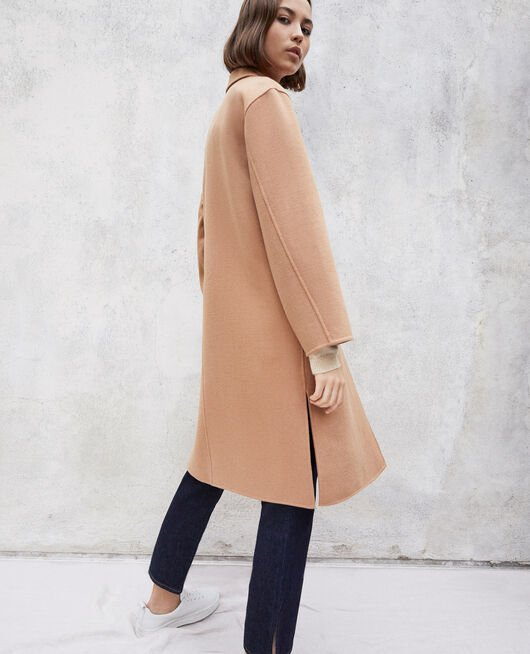 Double-sided coat CARAMEL BEIGE