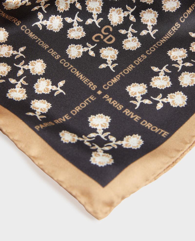 Square silk scarf Black beauty Mediteranee