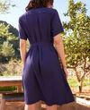 Plunge dress Navy 9illarou