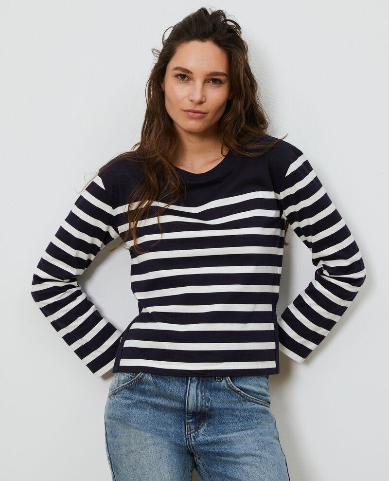 Long-sleeve striped t-shirt Stp nightsky cloud Martiel