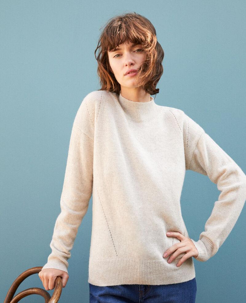Cashmere jumper with high collar  Beige Gladissio