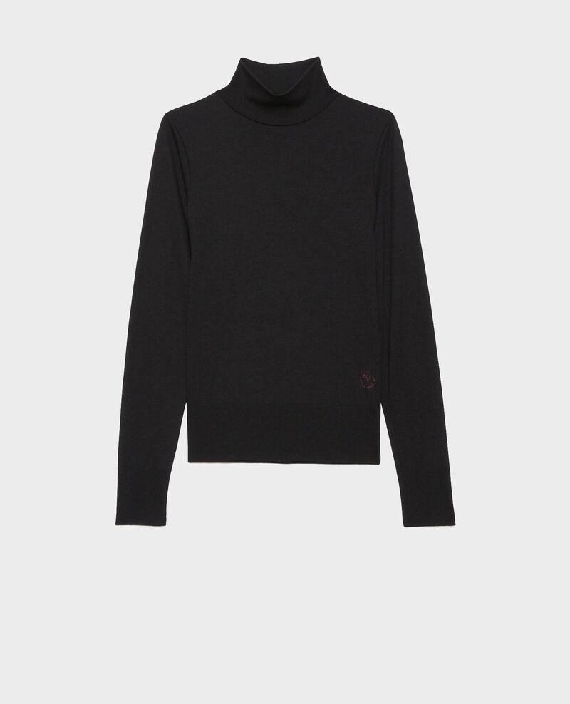 Fine rib knit jumper Black beauty Pylka