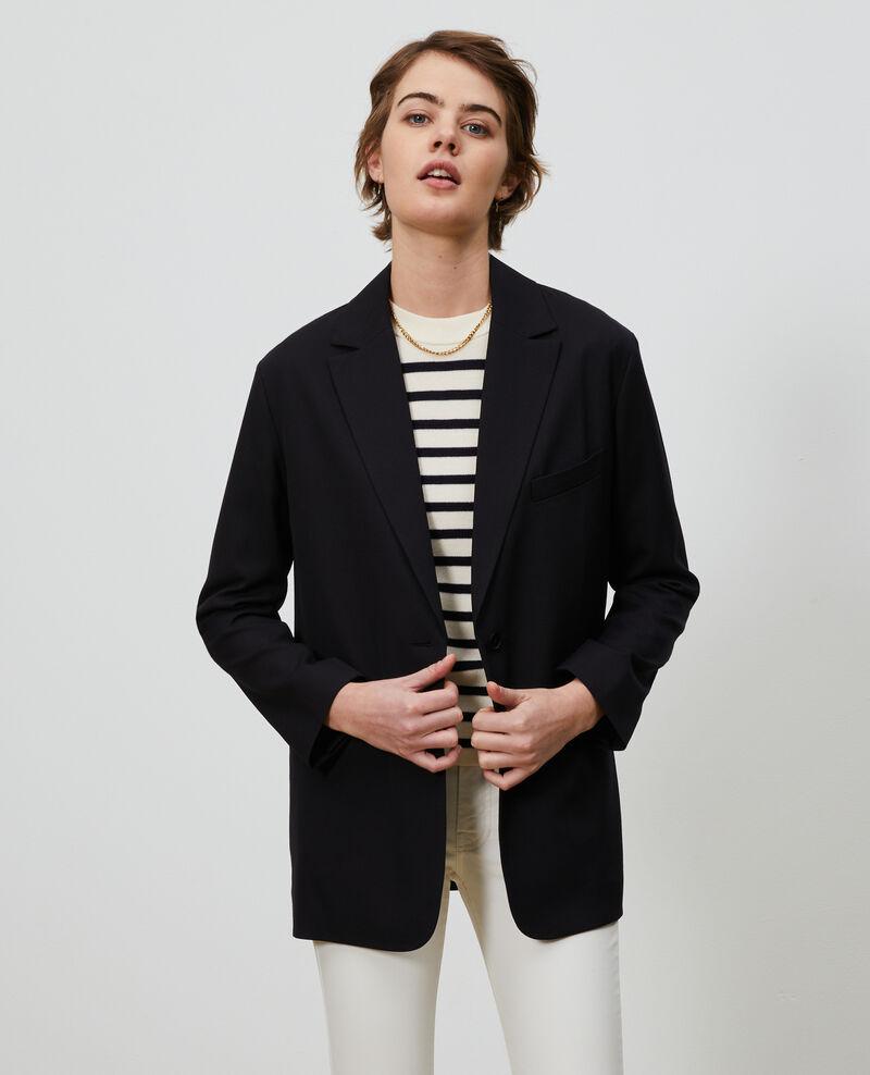 Wool boyfriend blazer Black beauty Nably