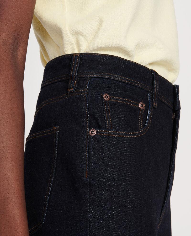 Straight-cut high-waisted jeans Denim rinse Leoda