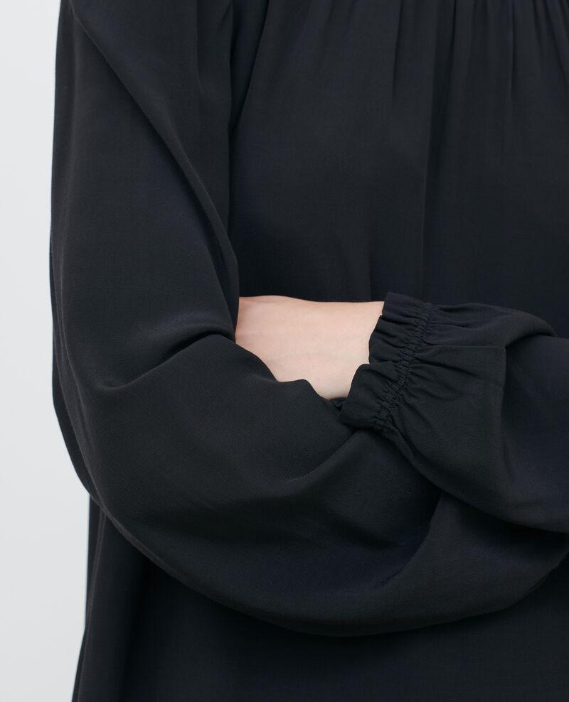 Mini dress with smocking Black beauty Pousson