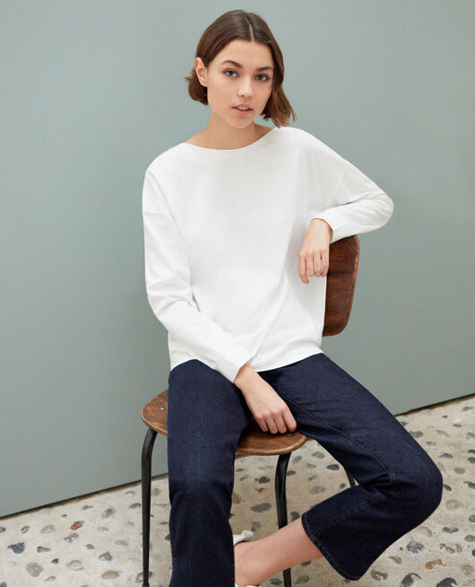 Boatneck sweatshirt OFF WHITE