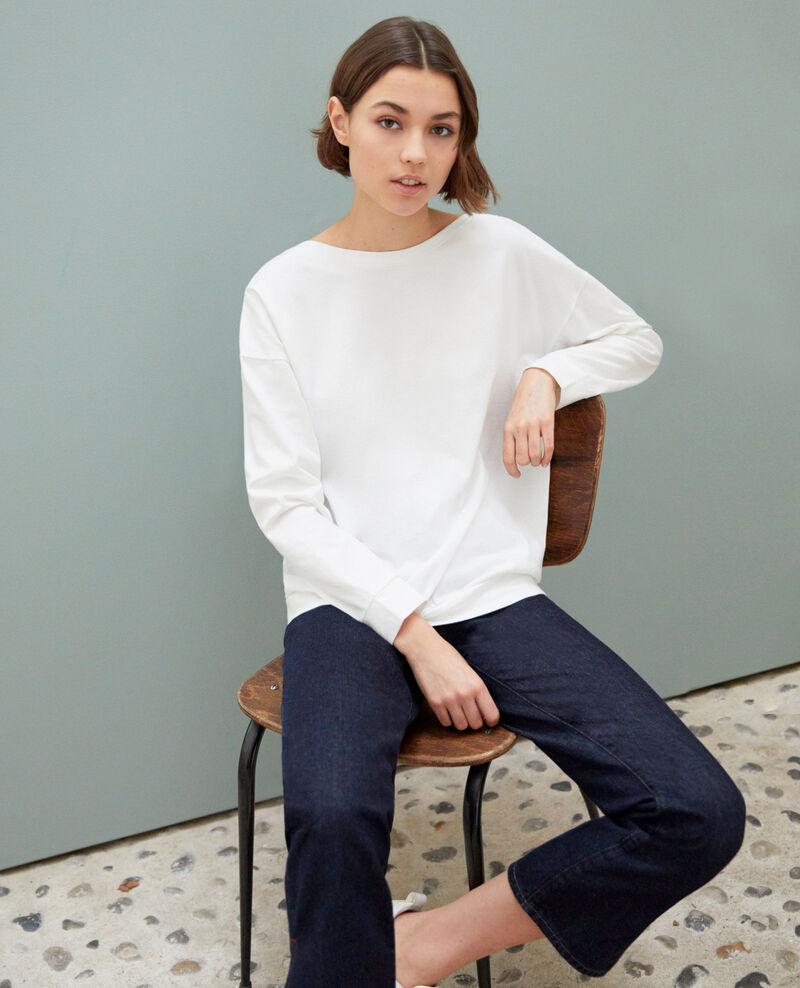 Boatneck sweatshirt Blanc Inkaja
