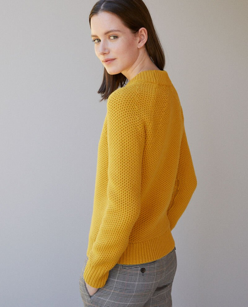 Wool jumper Golden spice Ginseng