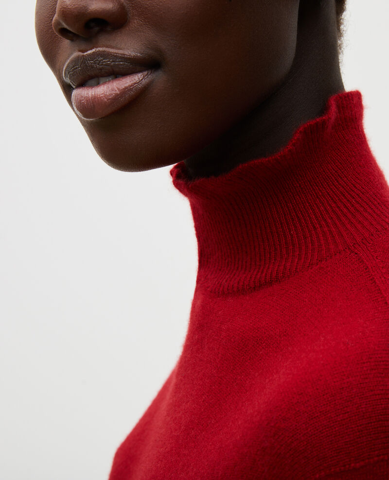 3D fine cashmere turtleneck jumper Royale red Mane