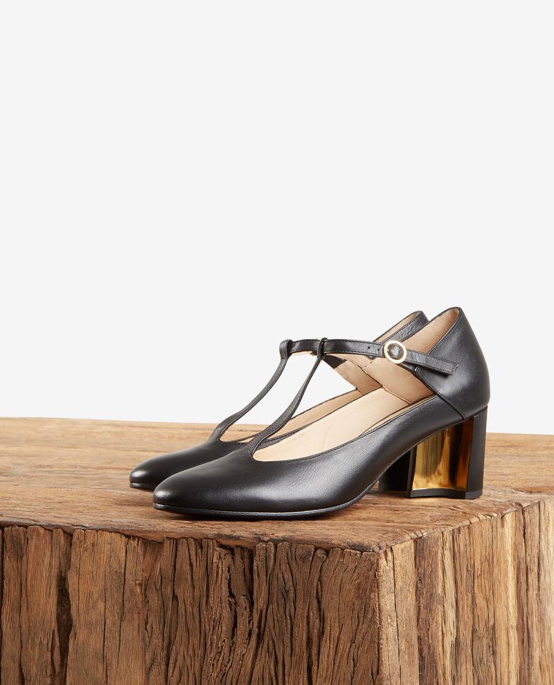 bien connu acheter pas cher en vente en ligne Leather Salome shoe Noir - Fillette | Comptoir des Cotonniers