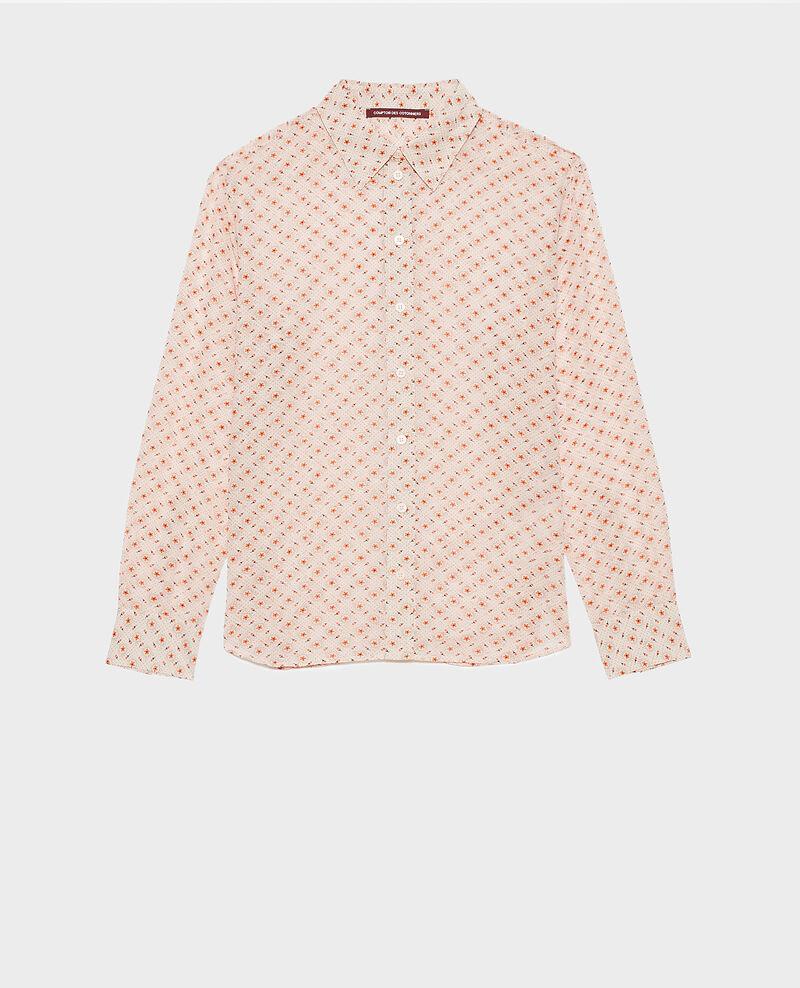 Printed cotton shirt Daisy seashellpink Nandes