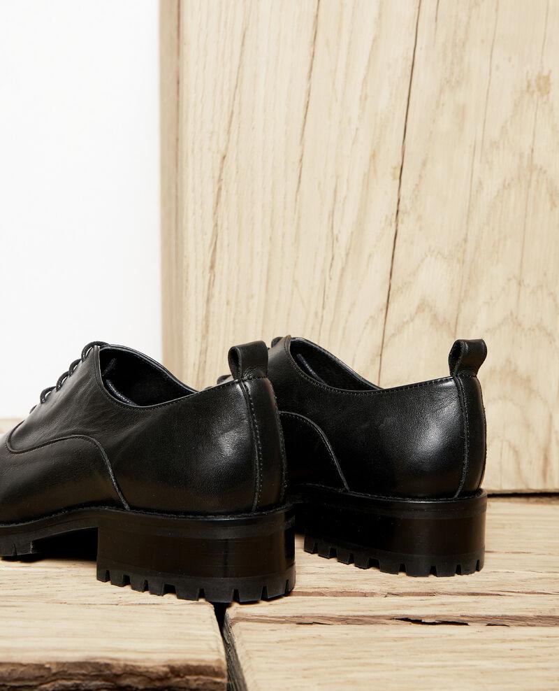 Black leather derbies Noir Jaya