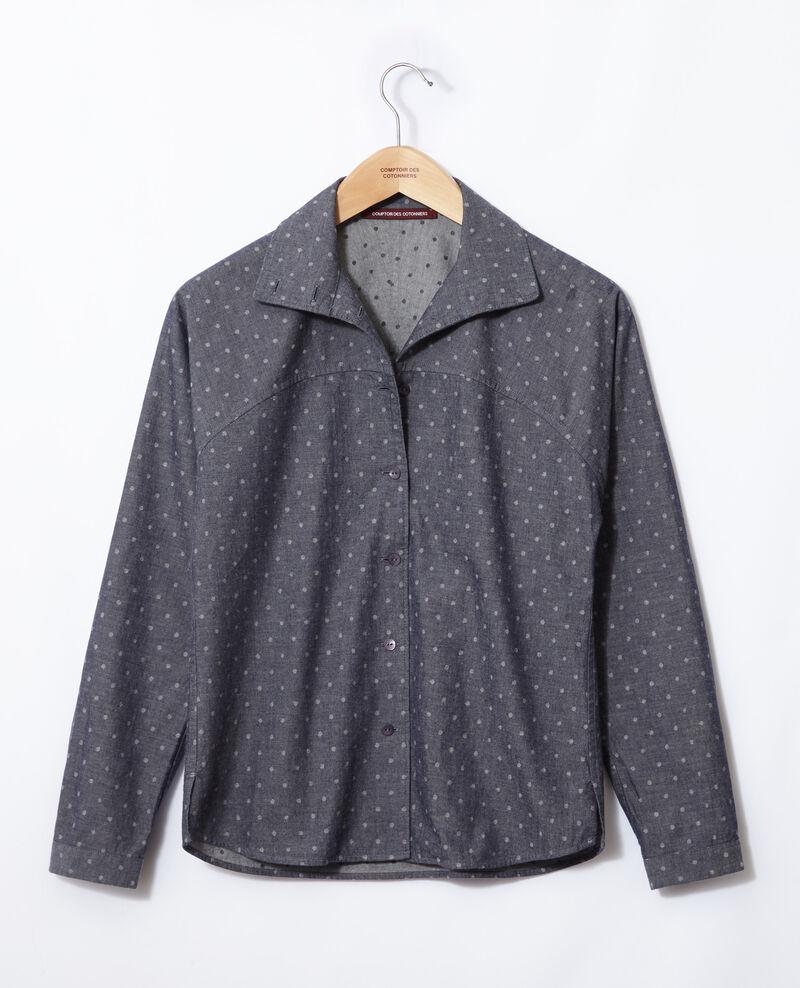 Straight-cut shirt Blue Gosy