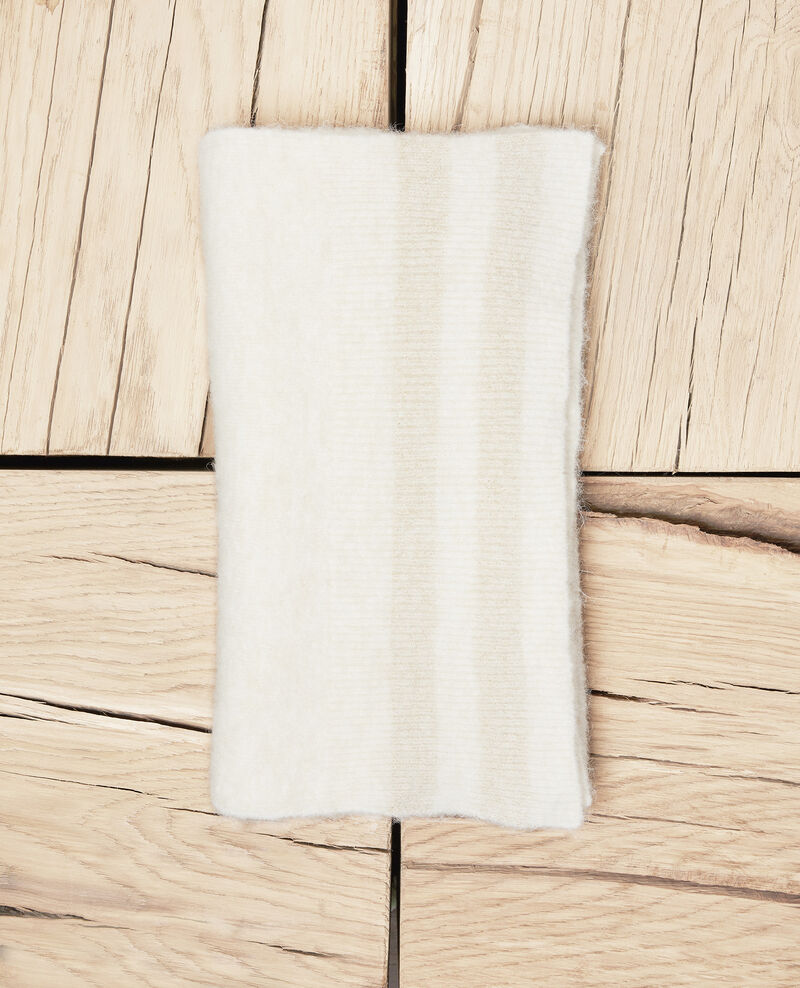 Scarf with lurex detail  Off white Jifroid