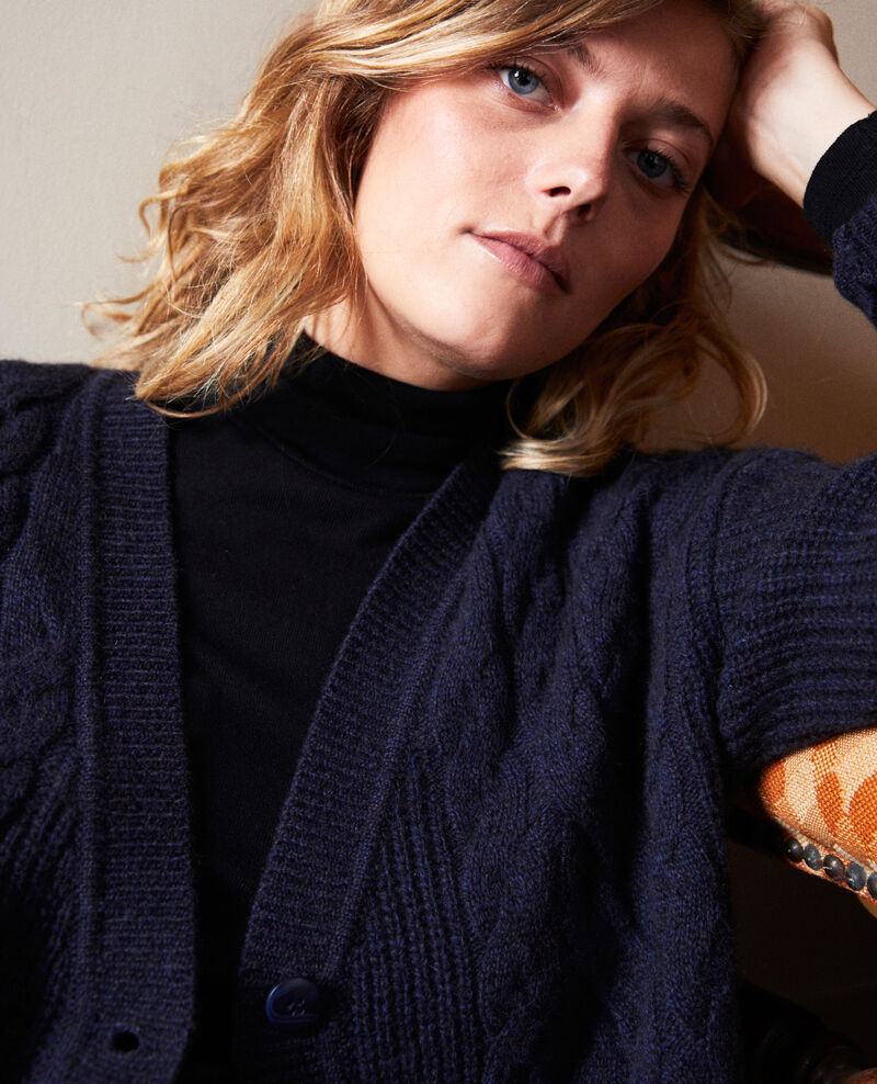 Cable-knit cardigan Dark navy Joubix