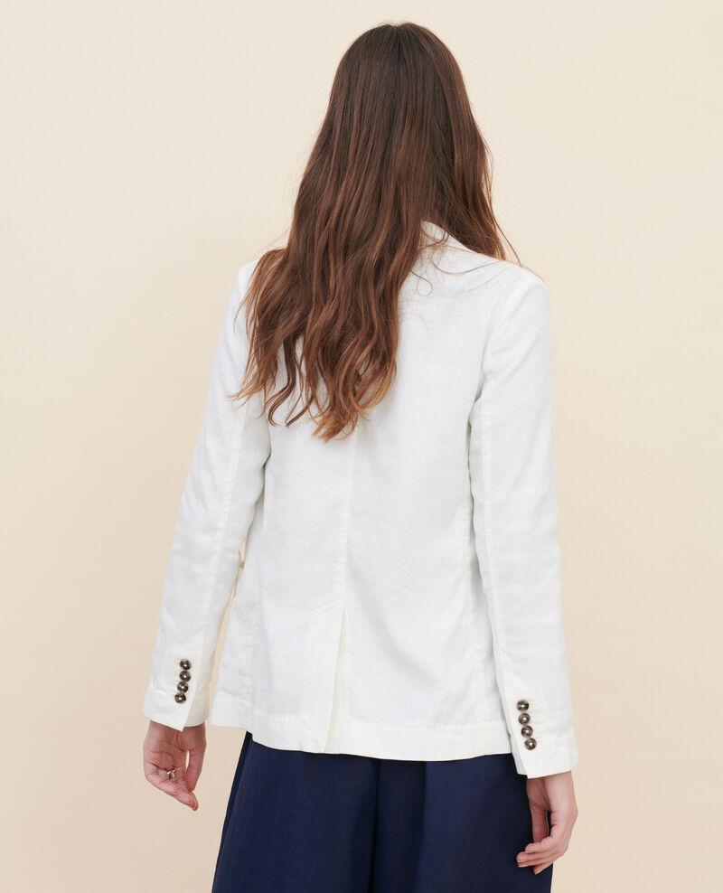 Cotton and linen boyfriend blazer Gardenia Lalbere