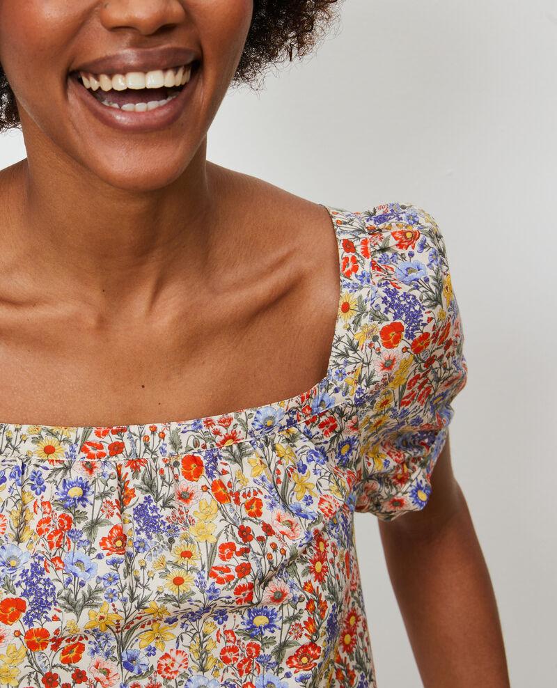 Short cotton and silk dress Prairie gardenia Neffa