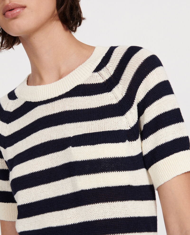 Linen and cotton jumper Str maritime butter Licula