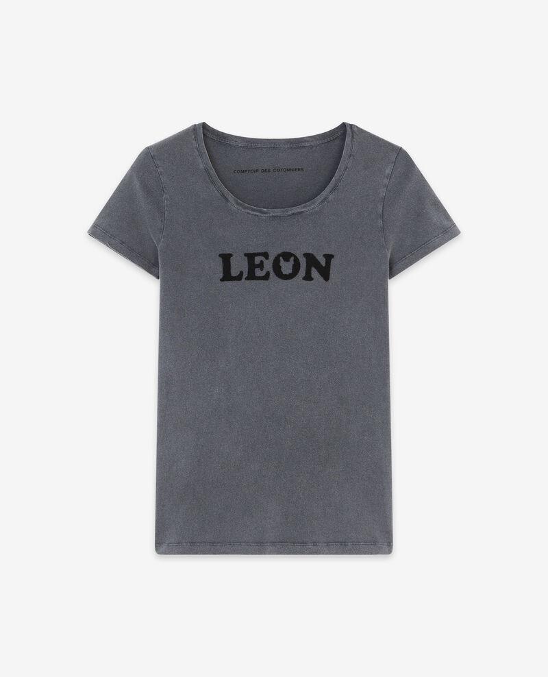 T-shirt with Léon print Light heather grey Daloupe