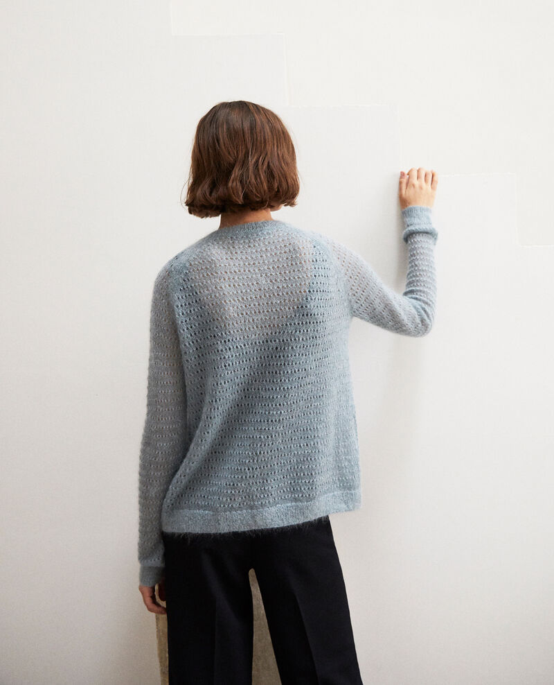 Novelty knit cardigan Blue mirage Isidore