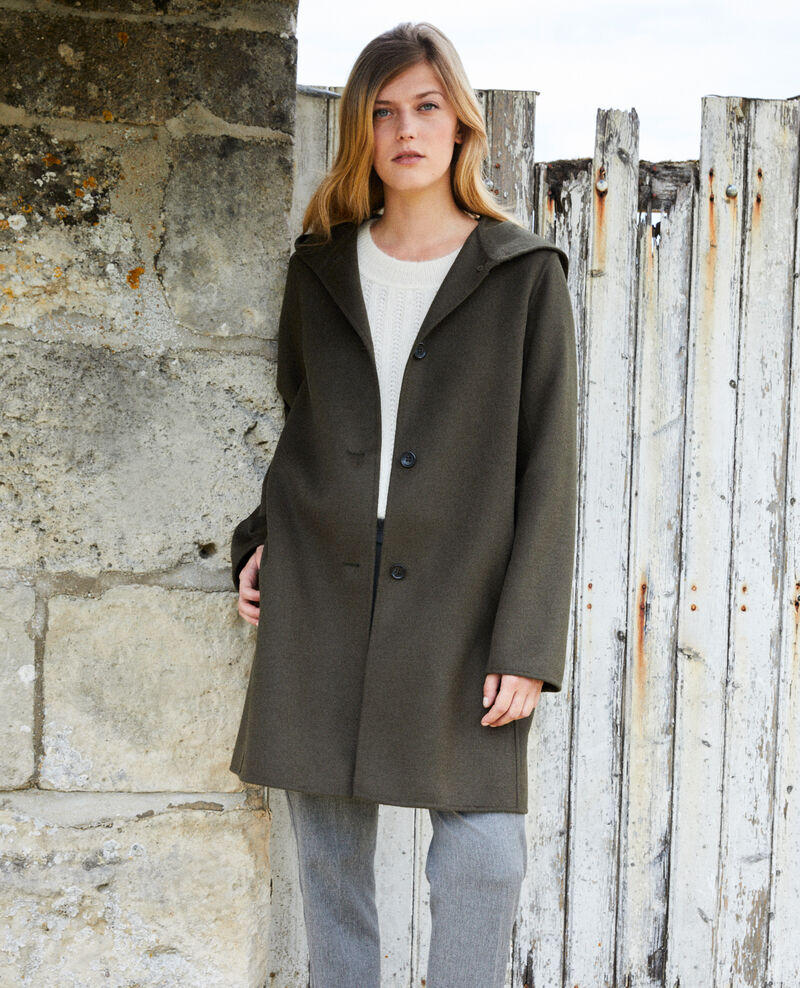 Double-sided hooded coat Deep depths Jarbin