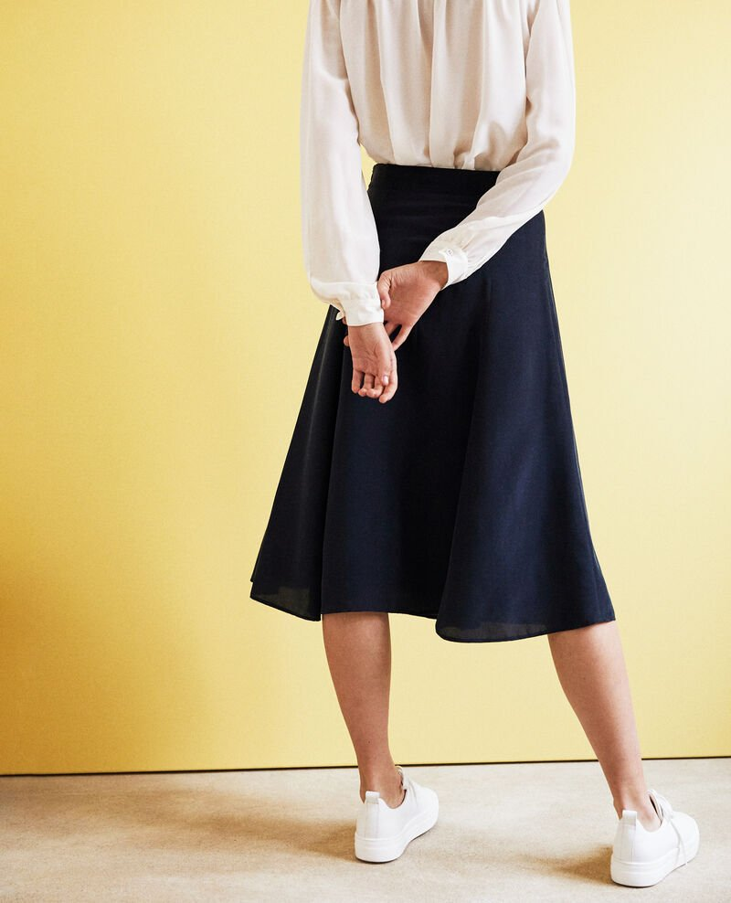 High-waist skirt Ink navy Ian