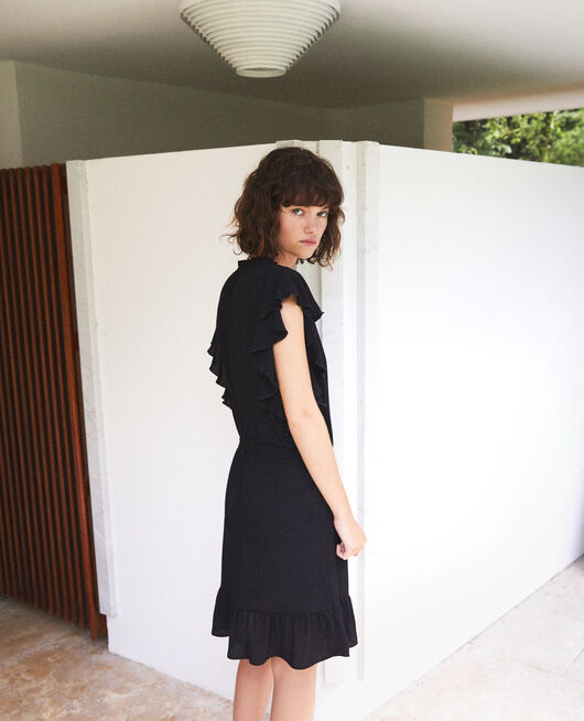Frilly dress Black