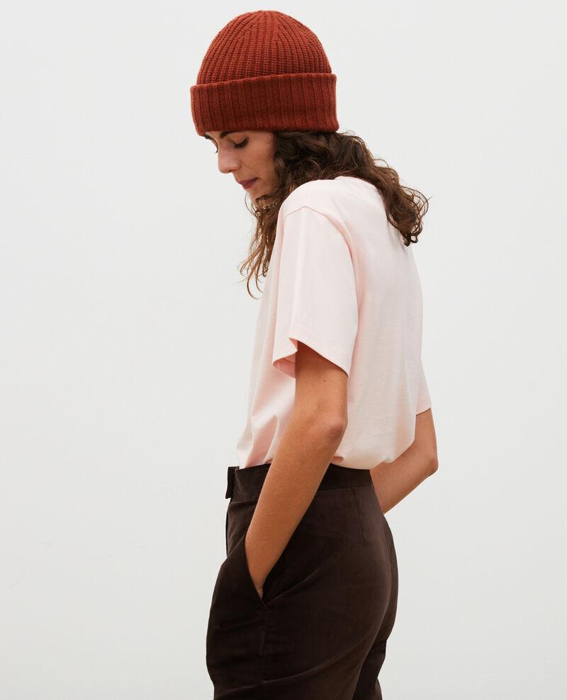 Short-sleeve cotton t-shirt Seashell pink Mariette