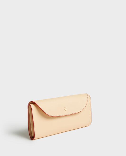 Leather wallet STRIPES FIERY RED GARDENIA