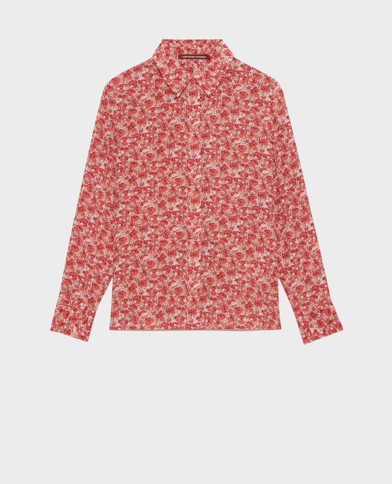 SIBYLLE - Long-sleeve silk shirt Art deco pink Misabethou