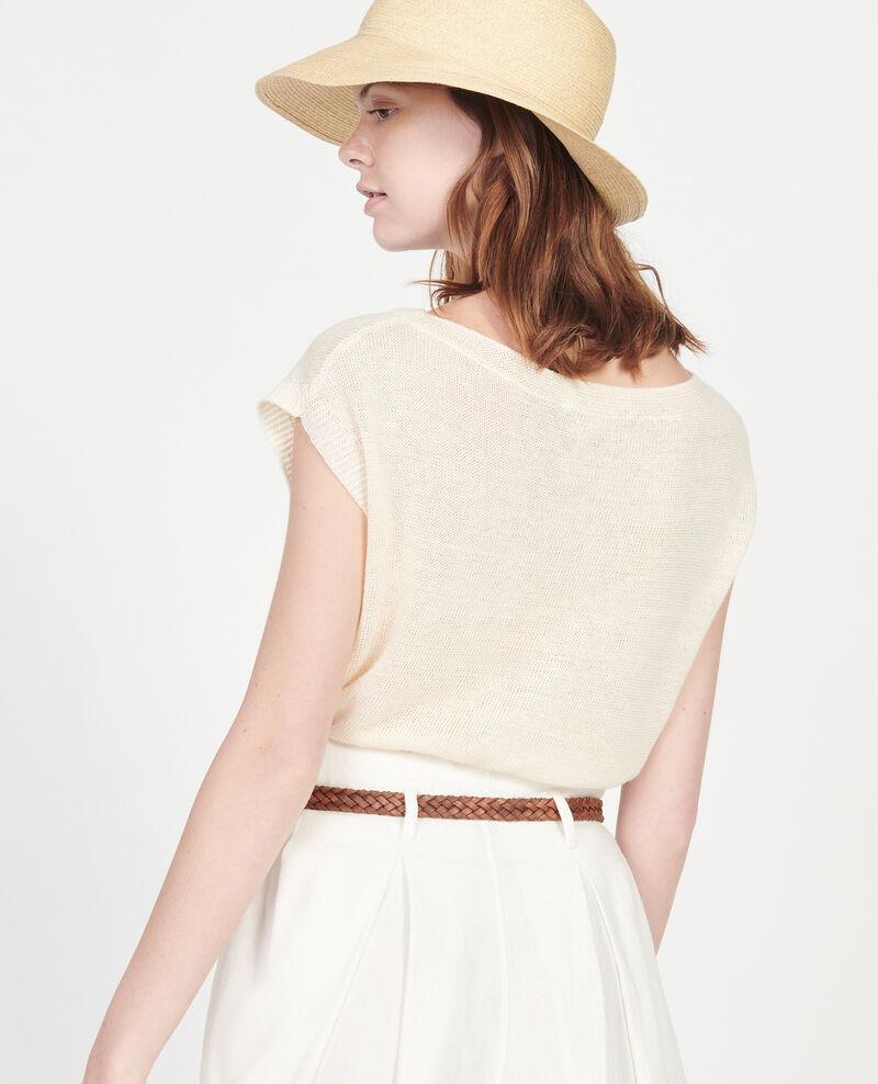 Linen t-shirt Buttercream Lagardiolle