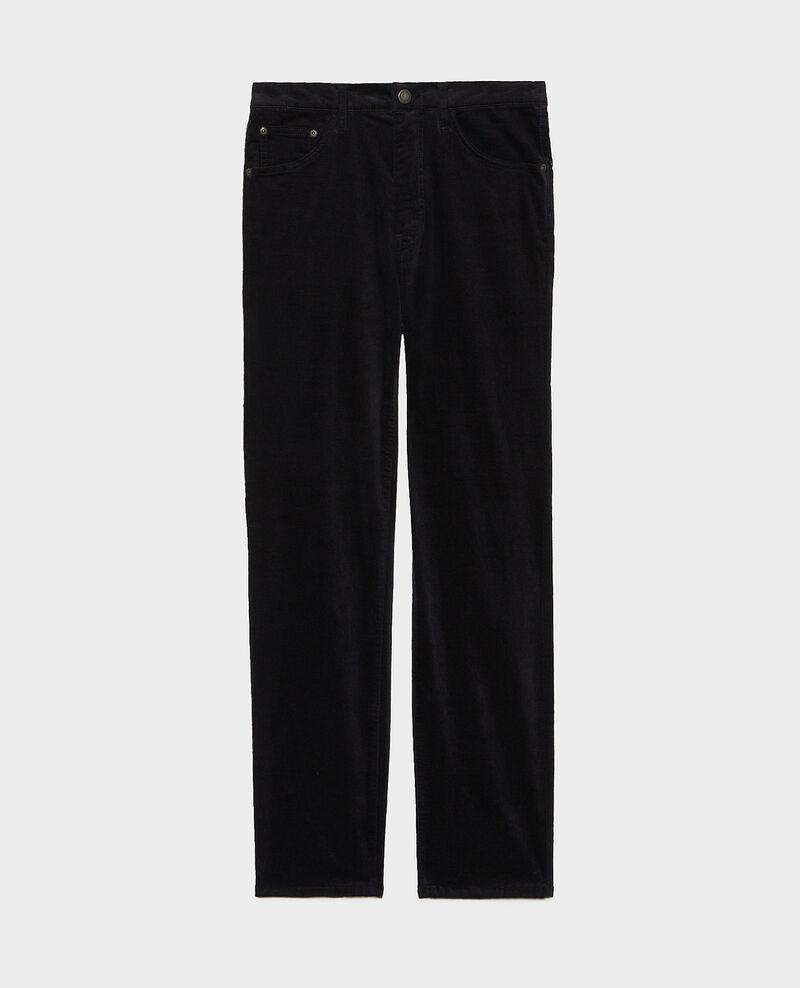SLIM STRAIGHT - smooth velvet 5 pocket jeans Night sky Muillemin