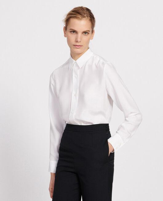 Silk shirt OPTICAL WHITE