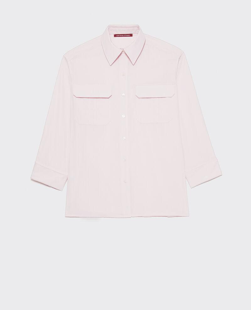 Oversize cotton men's shirt  Primrose pink Lauryl