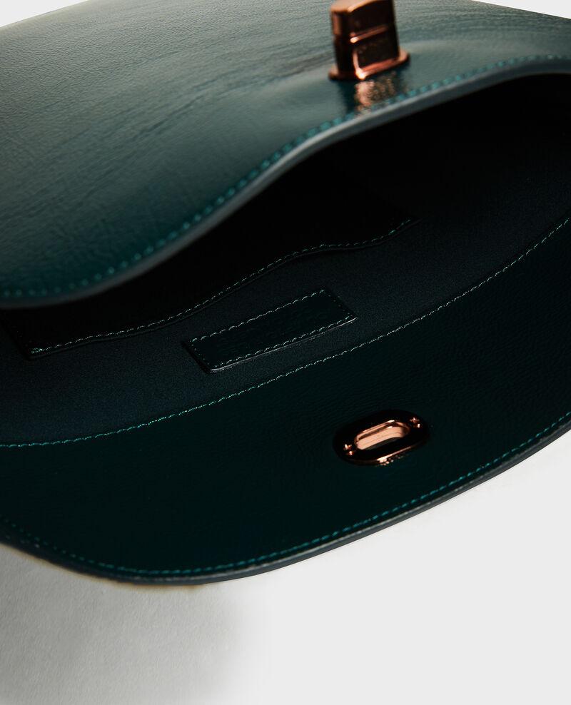Leather handbag with short shoulder strap Rain forest Midylle