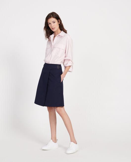 Cotton wrapover skirt MARITIME BLUE