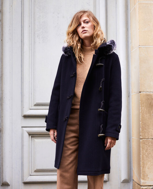 Duffle-coat-type coat DARK NAVY