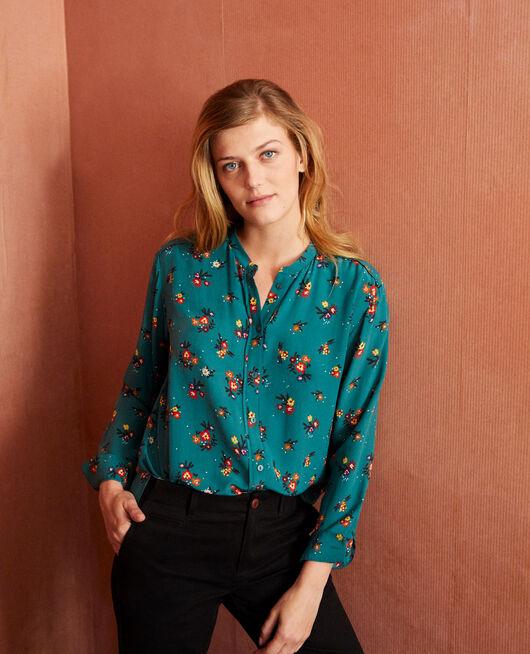 Mandarin collar blouse BOUQUET MEDITERANEA