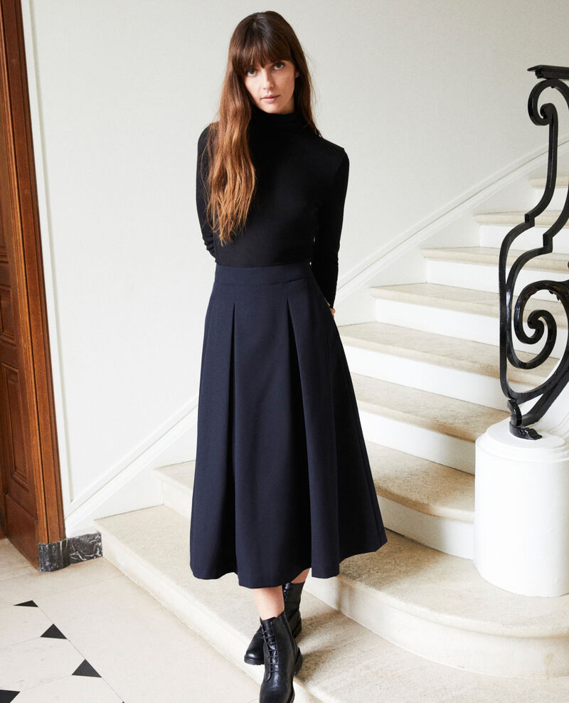 Mid-length skirt Dark navy Jaja