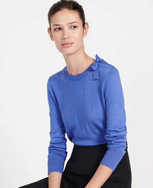 Silk and cashmere blend jumper AMPARO BLUE